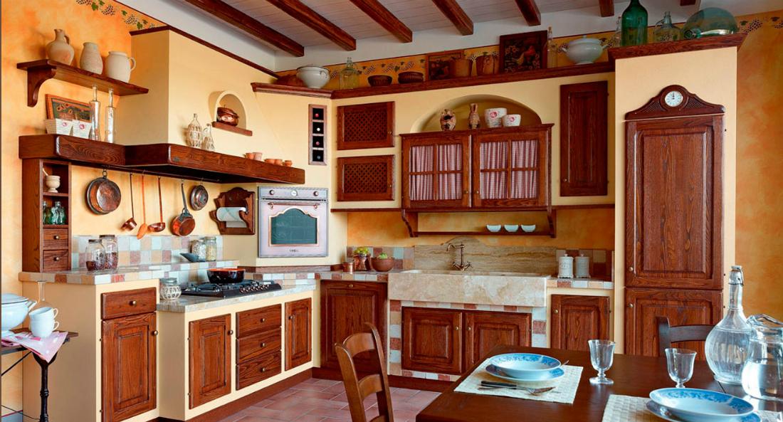 CUCINA RUSTICA CON LAVABO IN MARMO - Arredamento Shabby | Kitchen ...
