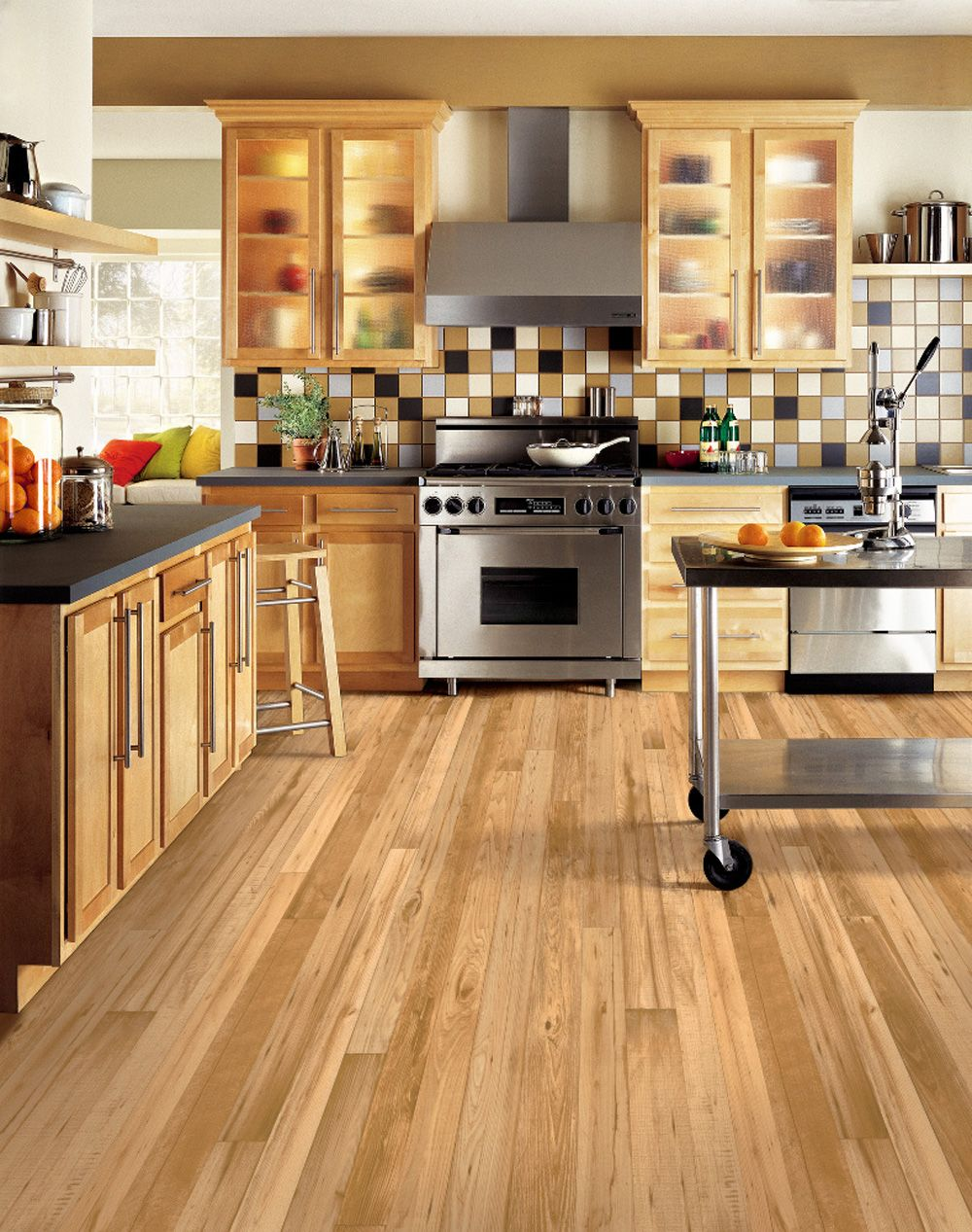 Luxe Vinyl Plank Kitchen flooring options, Modern