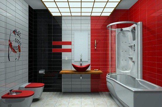 red bathroom color ideas. InteriorBoom \u2013 5 Modern Bathroom Color Ideas To Get Inspired Red A