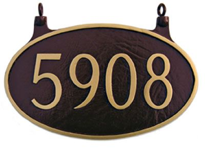 Two Sided Oval Address Plaque Hanging Address Plaque House