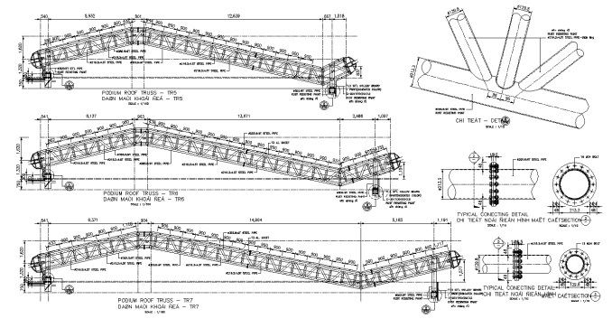 Truss Structure Details 7 Free Autocad Blocks Drawings Download Center Truss Structure Steel Structure Buildings Roof Trusses