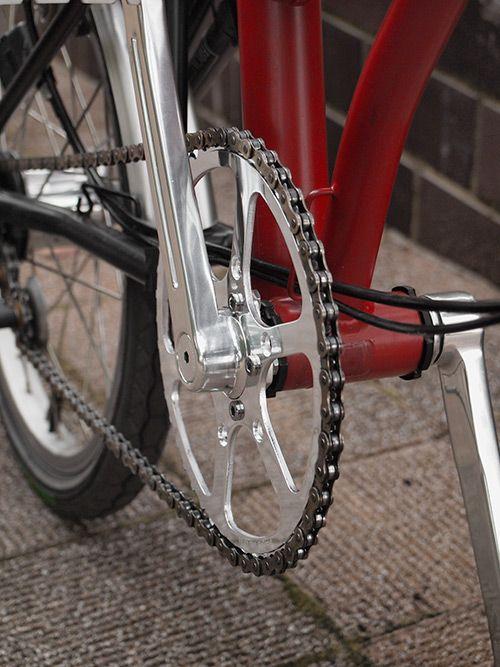 Sunxcdクランク交換 Syluet A ブロンプトン 自転車 チェーン