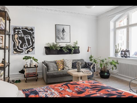9 Scandinavian Apartment With Colorful Eclectic Touch Interior Design Youtube In 2020 Modern Cozy Living Room Scandinavian Apartment Bohemian Style Bedrooms