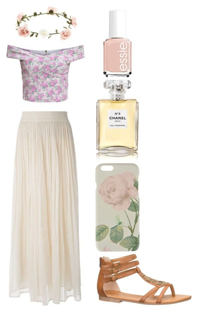 Summer by zaida-valadez-1 on Polyvore featuring polyvore, fashion, style, Mes Demoiselles..., maurices, Ted Baker, Accessorize, Chanel and Essie