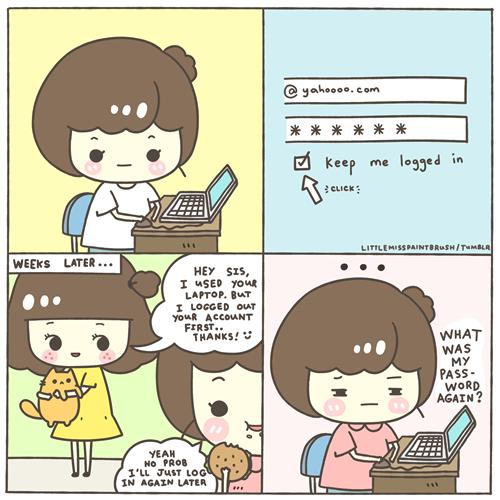 Little Miss Paint Brush : Chichi, #doodles #comics #drawings #password #forgetful me ugh