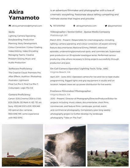 Filmmaker Resume Template Adventurous Filmmaker Resume  ˗ˏˋ Resumes And Cv's ˊˎ˗  Pinterest .