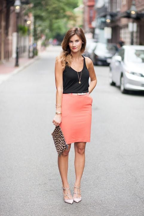 Spring/summer pencil skirt outfit | Pencil Skirts | Pinterest ...