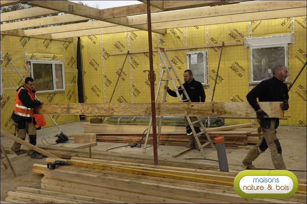 Jour 2 reportage maison bois maison ossature bois construction bois et ossature bois - Reportage construction maison ...