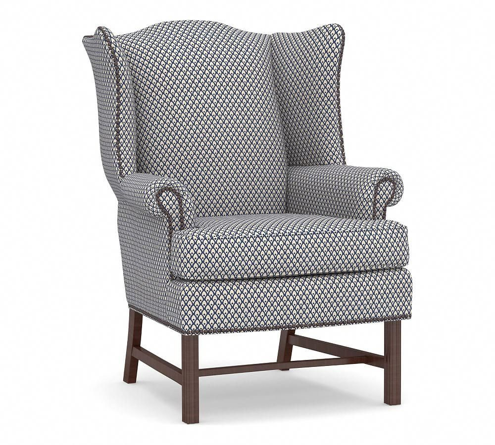 Thatcher Upholstered Wingback Chair In 2020 Upholstered