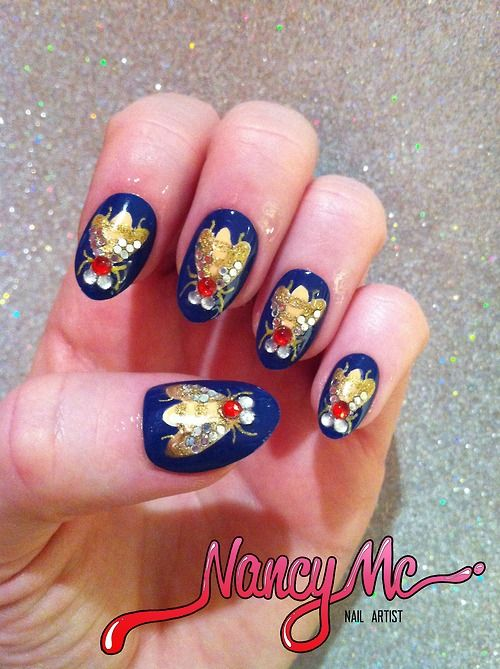 Bug Nail Art Kind Of Weird But Really Well Done I Would Do It On