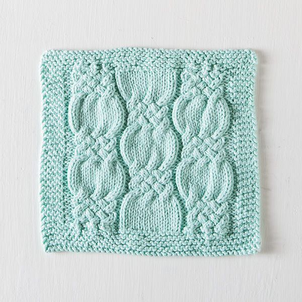 Free Washcloth Pattern – Knotted Cables! (Knit Picks Blog) | Suéter ...