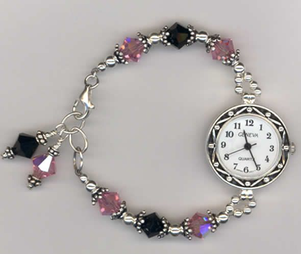 Bead Designs Ideas | ... Beaded Bracelet Watch Design For Jewelry Gift Ideas  By