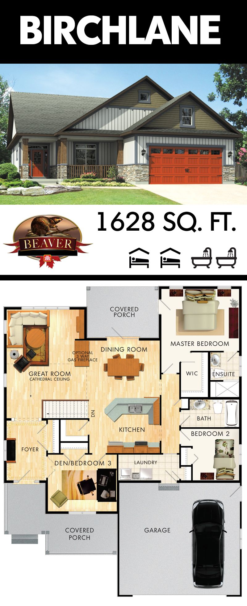 Birchlane New House Plans Beaver Homes And Cottages Dream