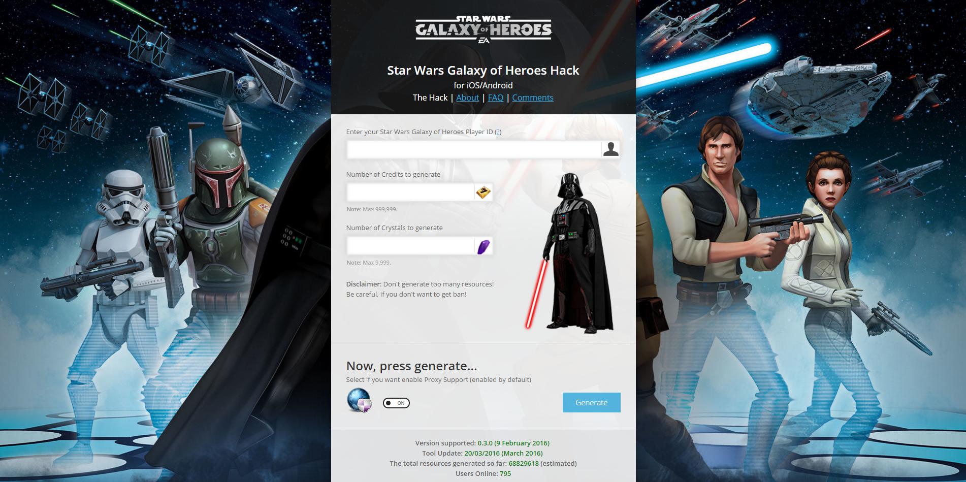 Star Wars Galaxy Of Heroes Cheats