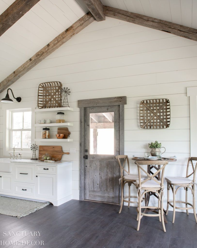 How I Decorated Our New Guest Cottage Kitchen Sanctuary Home Decor Small Cottage Interiors Small Farmhouse Kitchen Small Cottage Kitchen