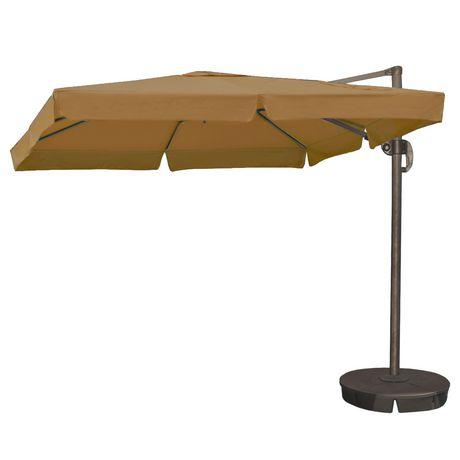 Island Umbrella Santorini Ii 10 Ft Square W Valance Stone