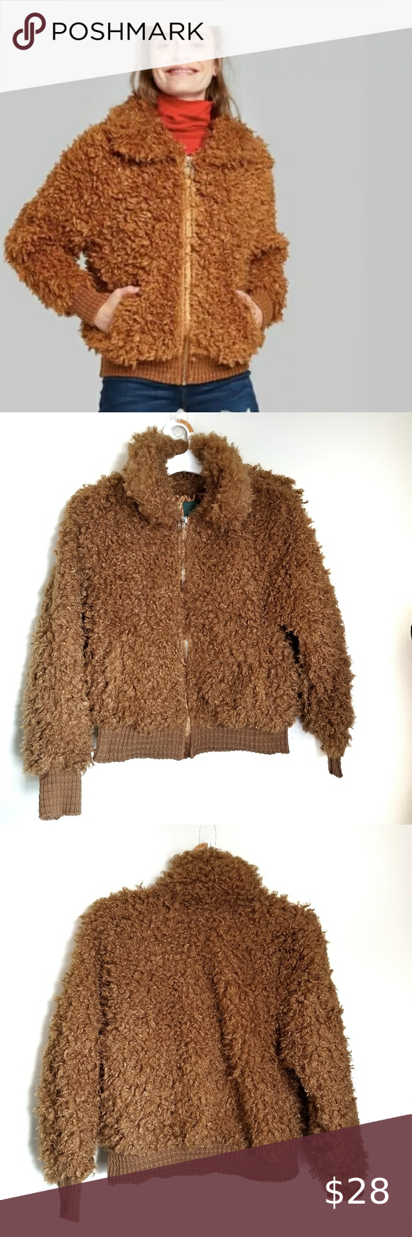 Wild Fable Teddy Fuzzy Sherpa Bomber Jacket Bomber Jacket Jackets Jackets For Women [ 1740 x 580 Pixel ]