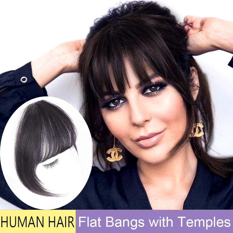 Clip In Bangs Human Hair Extensions With Images Real Human Hair Extensions Hairstyles With Bangs