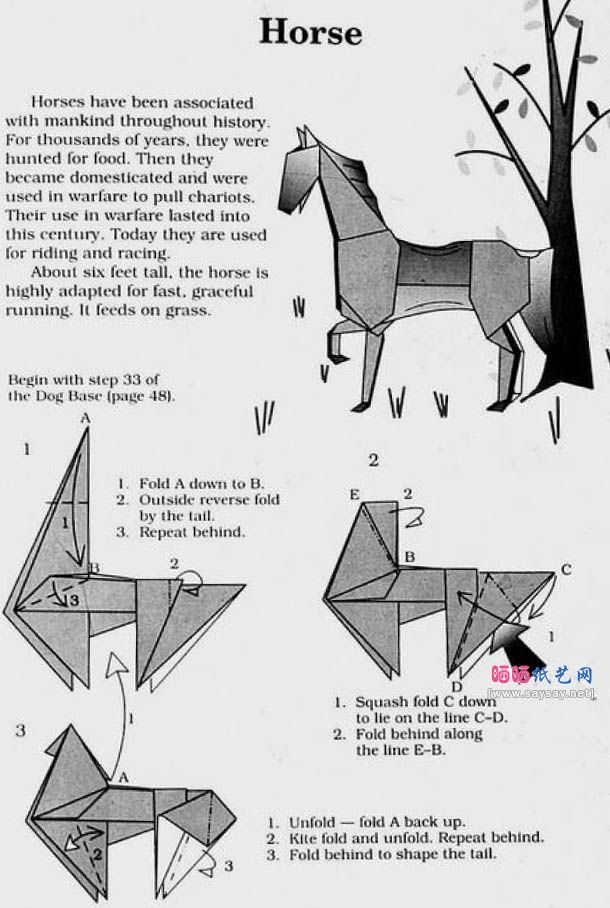 origami horse instructions 1 61 origami pinterest