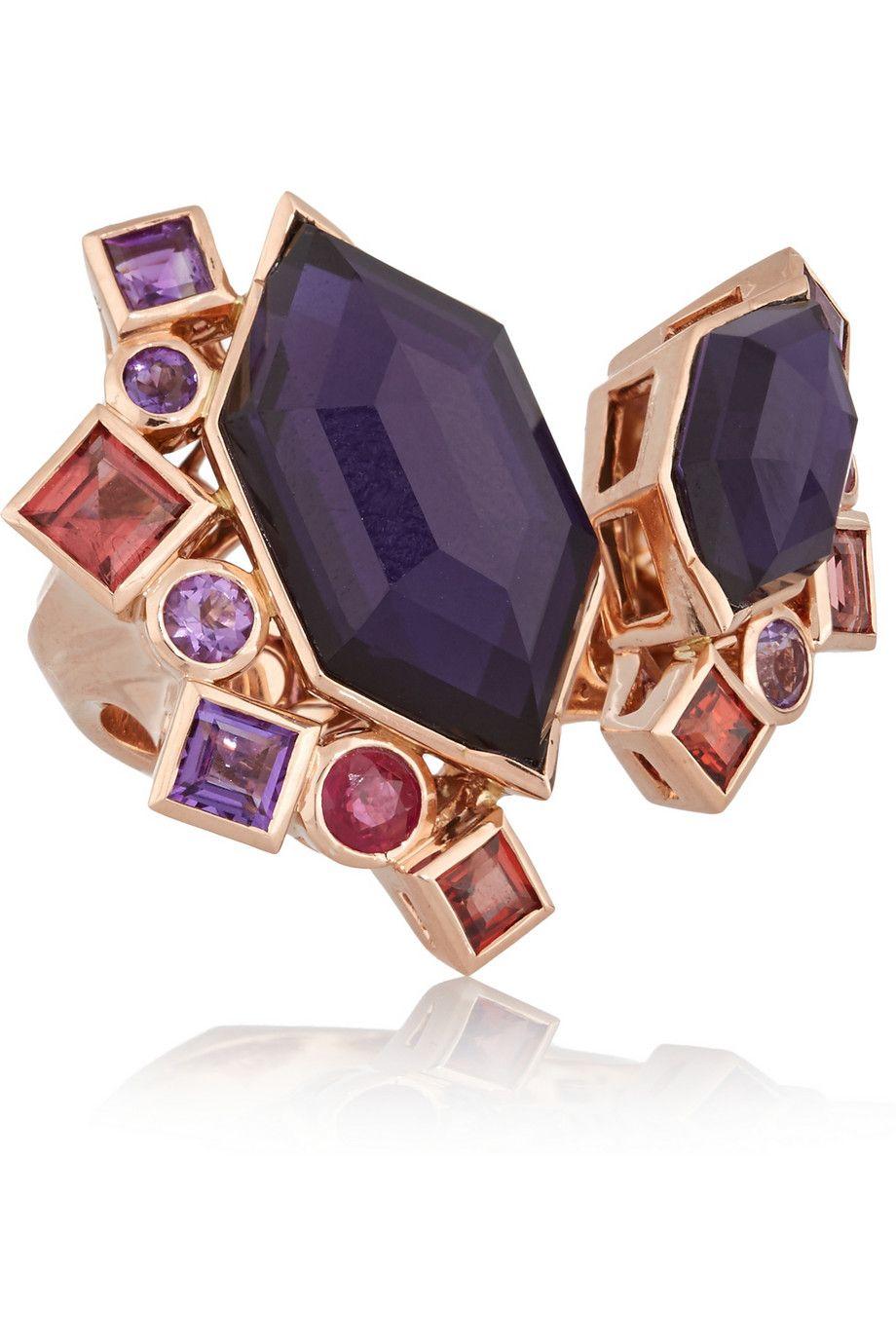 Stephen Webster Fly By Night 18-karat Rose Gold Multi-stone Ring bb9jmwhQj