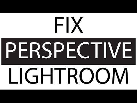 Lightroom perspective correction