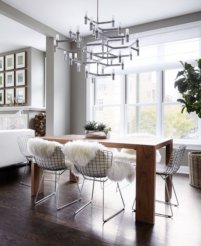 Minimalist Interior in Chicago, design, décor, interior, Chicago, USA, apartment, wood, dining room