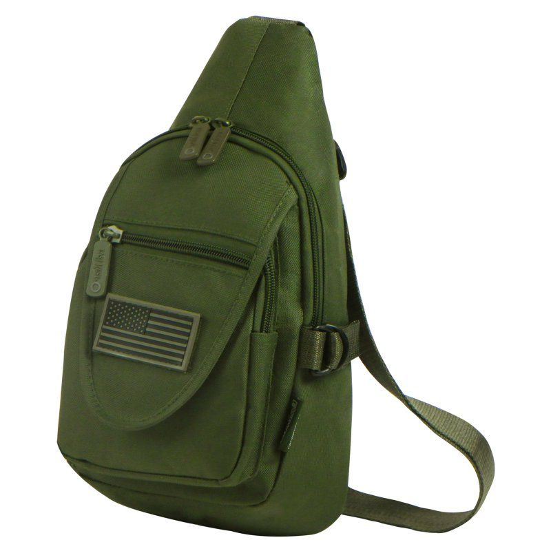 check out 38508 65eb9 East West U.S.A. Tactical Military Utility Chest Pack   Sling Bag Olive -  RT513 - OLIVE