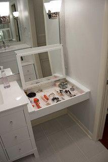 Built In Makeup Counter Master Bathroom Vanity Small Bathroom
