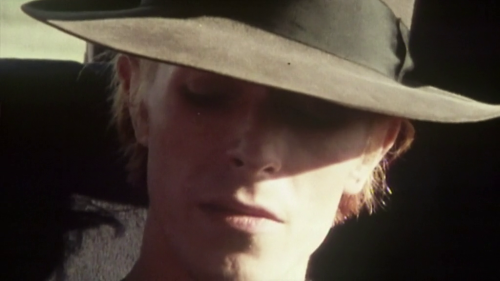 David Bowie       Scene from the documentary Cracked Actor circa 1974      Produced by Alan Yentob