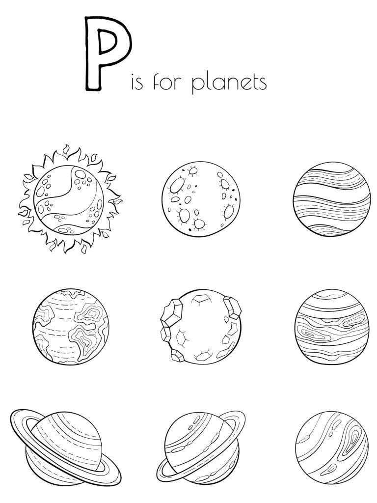 Planet Coloring Pages Planet Coloring Pages Planets Activities