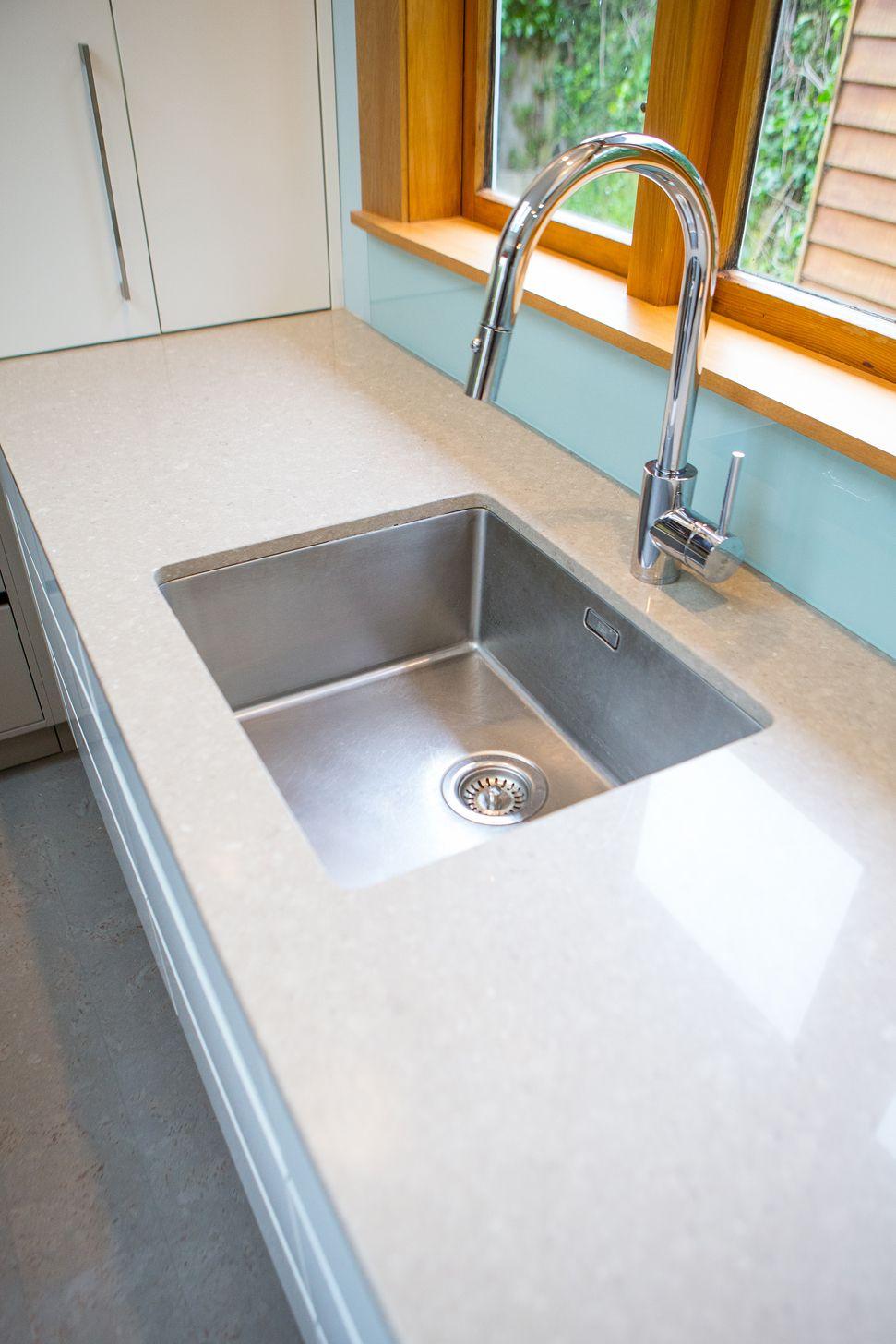 Mercer Bristol Sink Undermounted Into Caesarstone Benchtop - Kitchen designers bristol