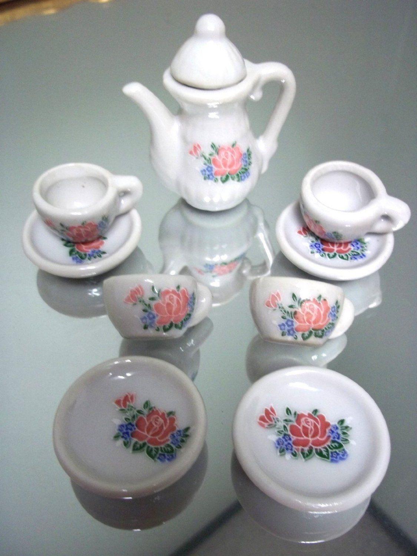 Amazon.com: Mini Porcelain Tea Set 10 Pieces: Kitchen & Dining $4.99