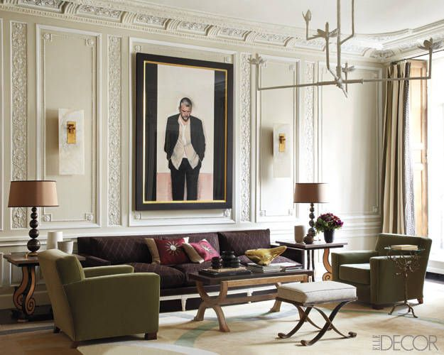 Luxe Living On The Left Bank Elle Decor Interior Design Interior Living room ideas elle decor