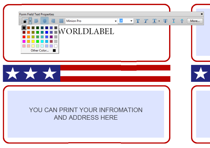 Editable Shipping Labels  Prints    Label Templates