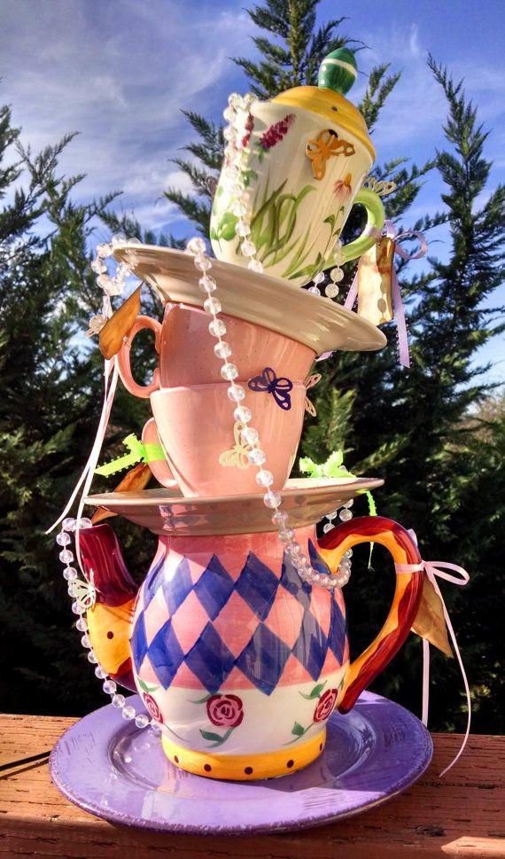 Mad Hatter Tea Party Centerpiece Decor Alice In Wonderland
