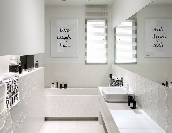 Black & White Bathroom   Home Style   Pinterest  Bathroom Entrancing 9X5 Bathroom Style Decorating Inspiration
