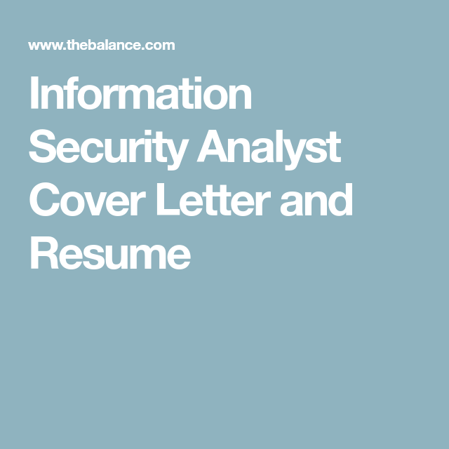 Here Is a Sample Information Security Analyst Cover Letter ...