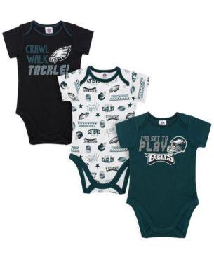 a16b38754 Gerber Childrenswear Philadelphia Eagles 3 Pack Creeper Set, Infants (0-9  Months) - Green 0-3 months