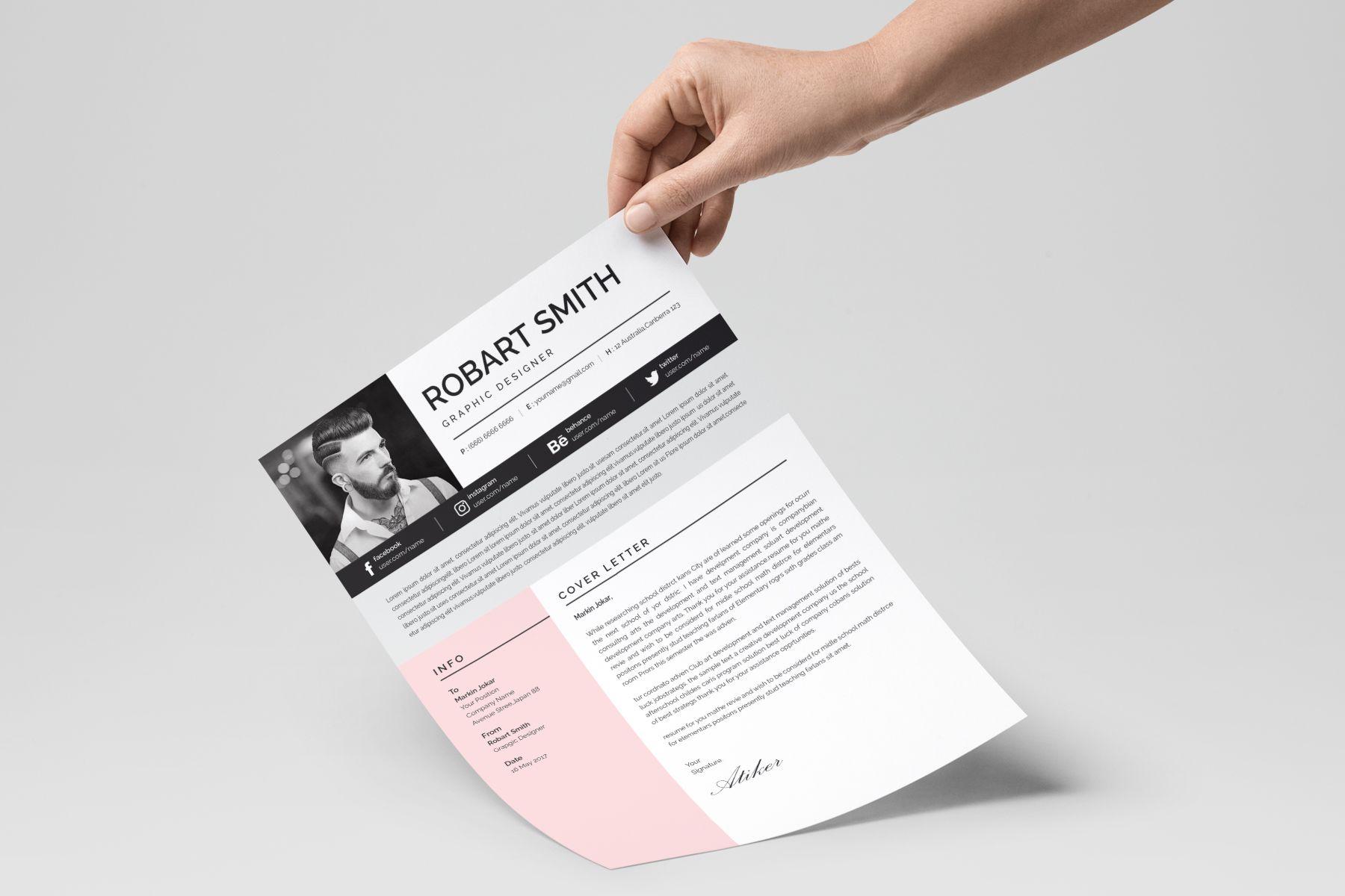 Robart Professional & Modern Resume Template | Packaging Design ...