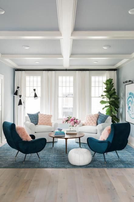 Most of everything in this room is symmetrical in design, making it