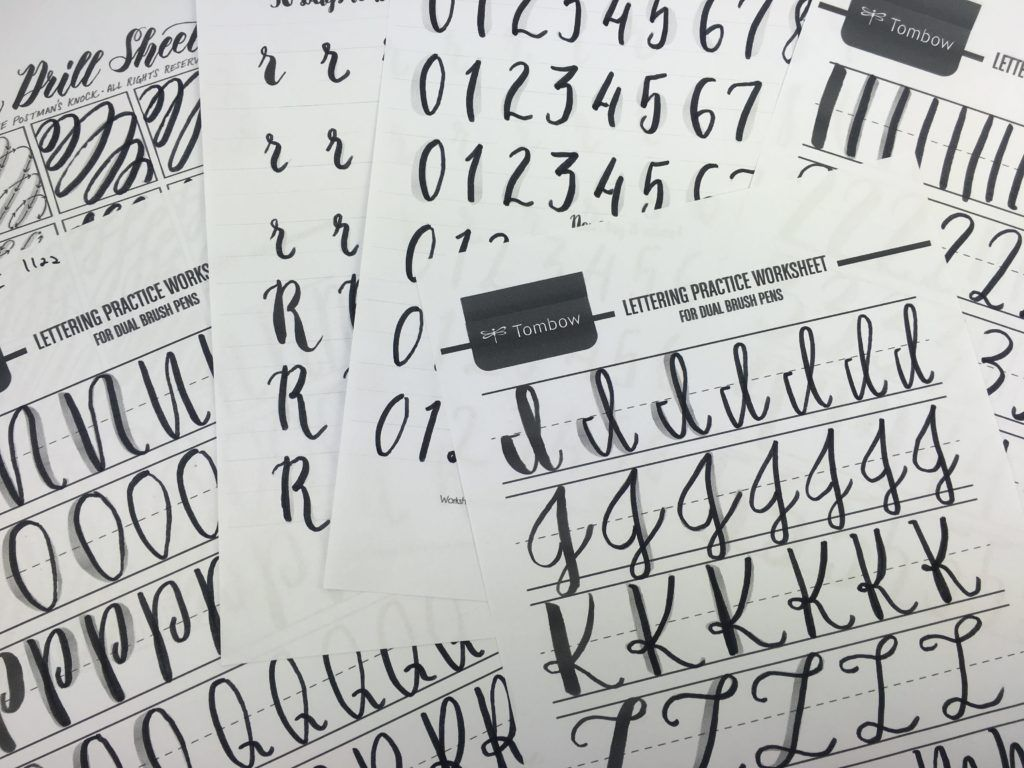 Calming calligraphy drills printable free download the