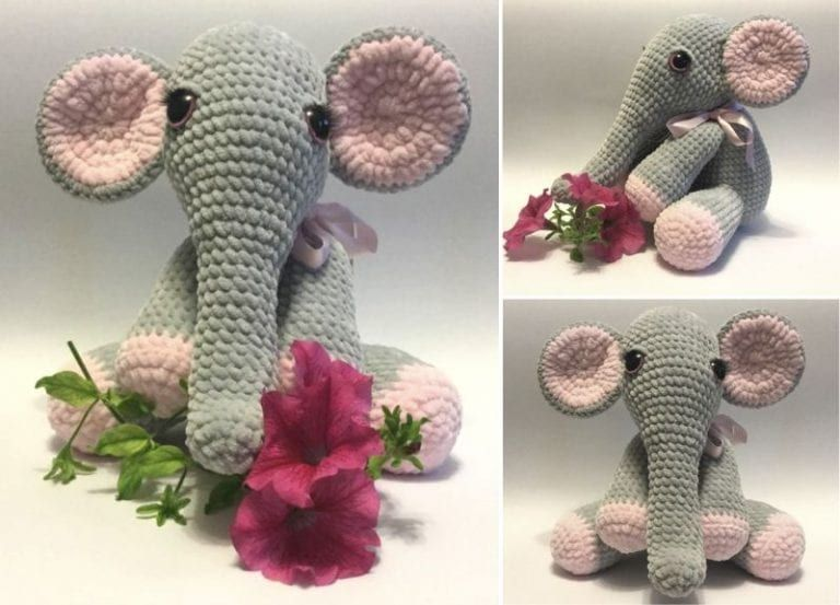 Beautiful Lady Crochet Elephant
