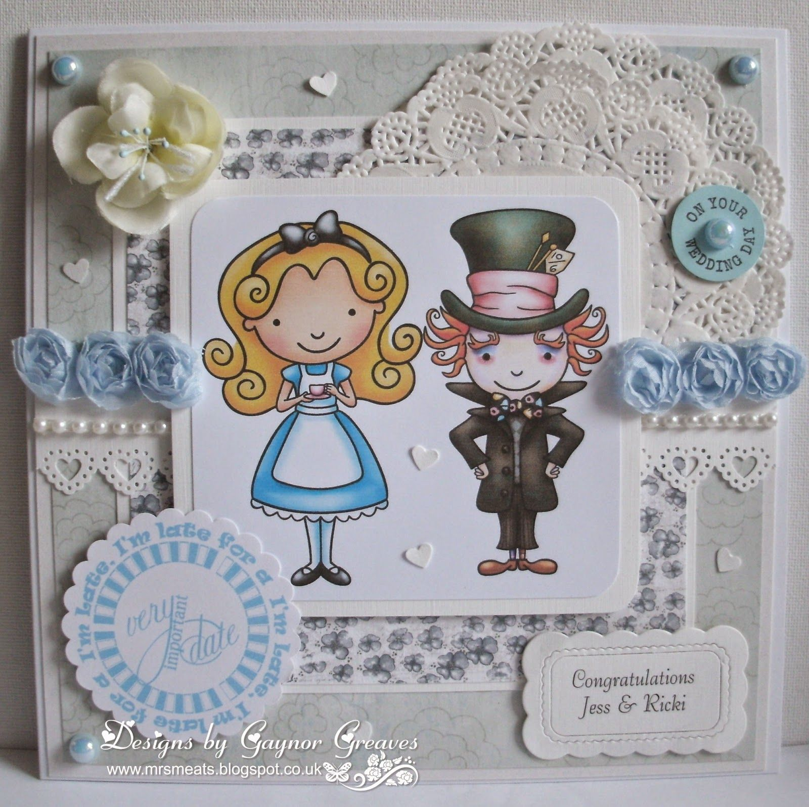 GlitterBug: Alice In Wonderland Wedding Card