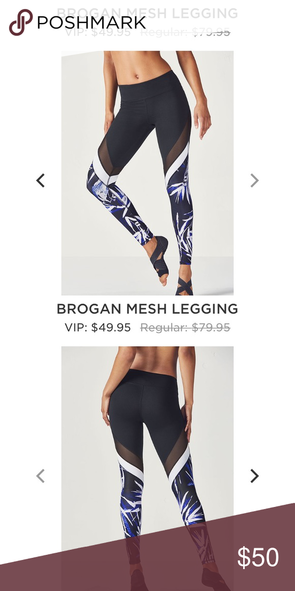 3e0dd23bcd9128 Fabletics Brogan Mesh Legging Description shown in last photo!! NWT never  worn brand new! More information and/or pictures upon request!