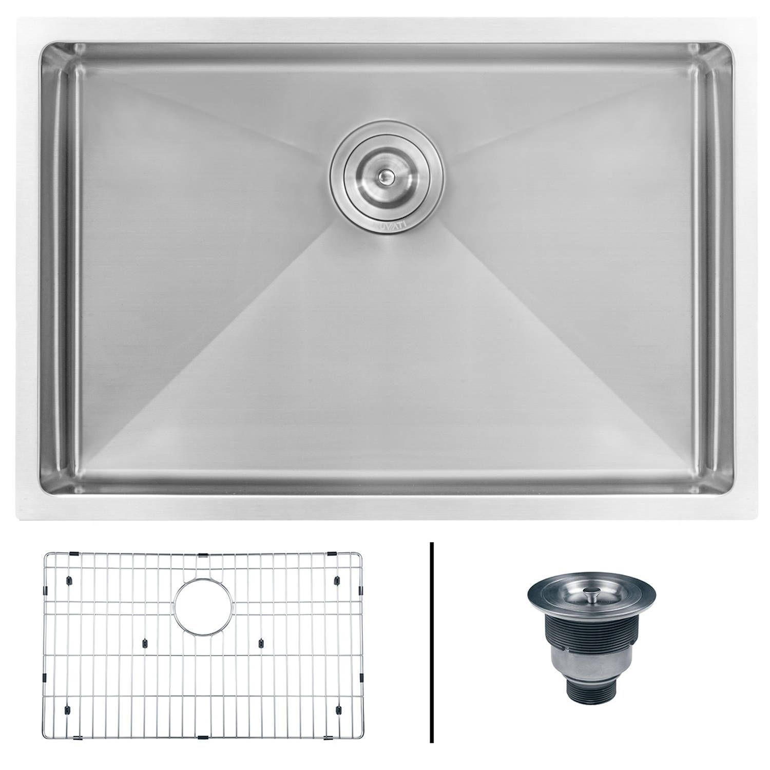 Kitchen Sinks Remodeling Ruvati 26 Inch Undermount 16 Gauge Tight Radius Stainles Stainless Steel Kitchen Sink Single Bowl Kitchen Sink Stainless Steel Kitchen