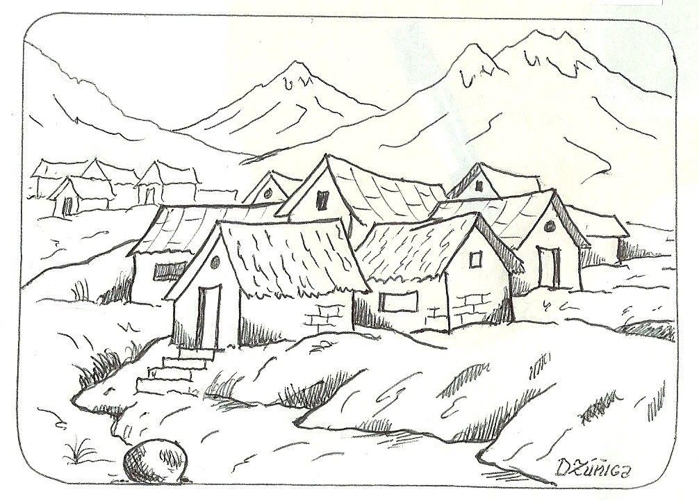 Paisajes Infantiles Para Dibujar | DIBUJOS | Pinterest | Paisajes ...