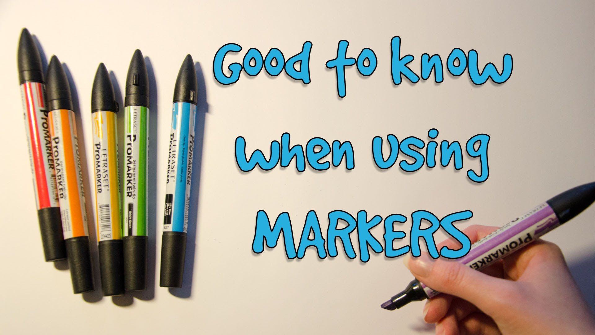 TUTORIAL: Good to Know When Using MARKERS | Crafting - Alcohol Ink ...