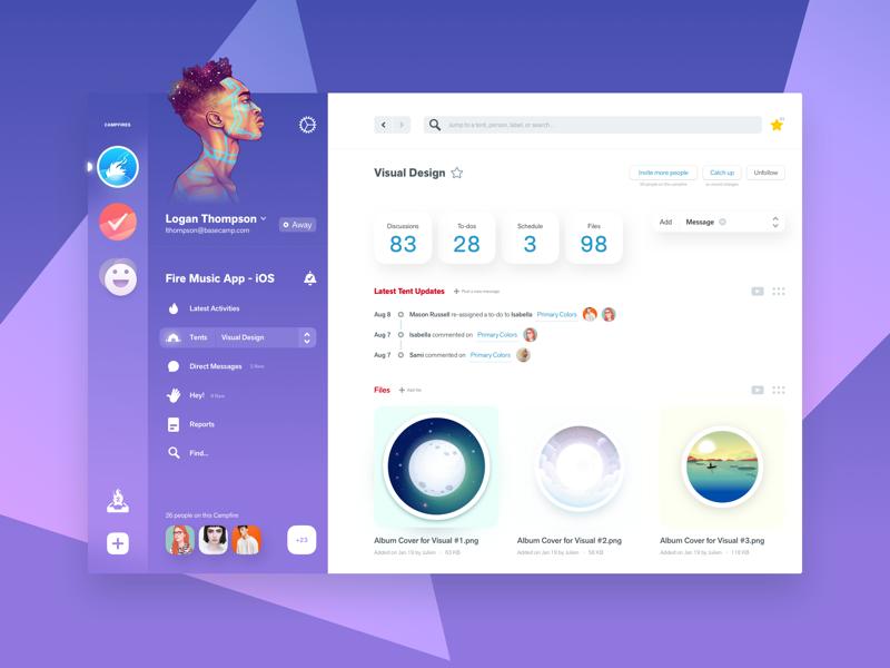 Desktop application ui design examples