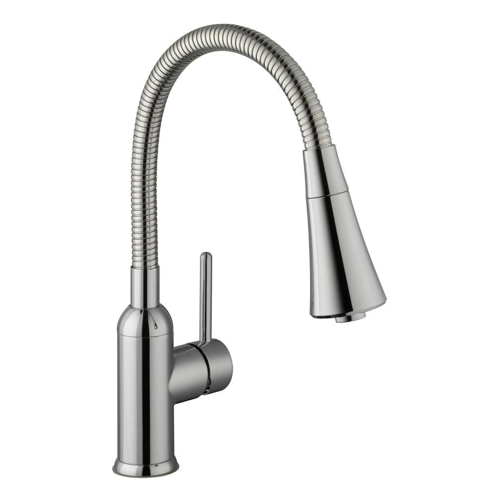 Glacier Bay Bodell Single Handle Pulldown Laundry Faucet In Chrome