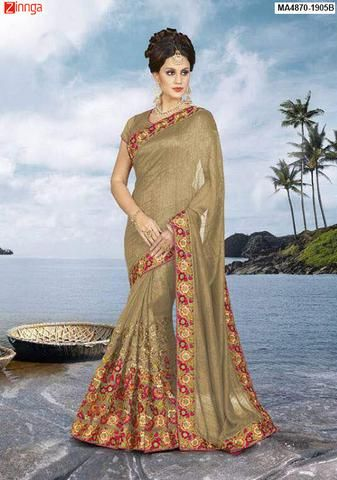 MAYLOZ Women's Beautiful Georgette Saree With Blouse